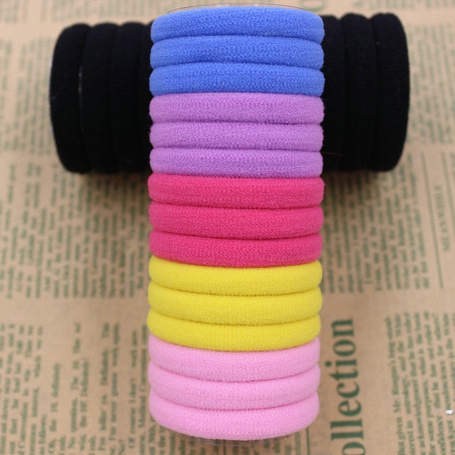 AIKELINA New 50pcs/bag 40mm Pure White Hair Holders Rubber Bands Elastics Girl Women Tie Gum Fashion Free Shipping