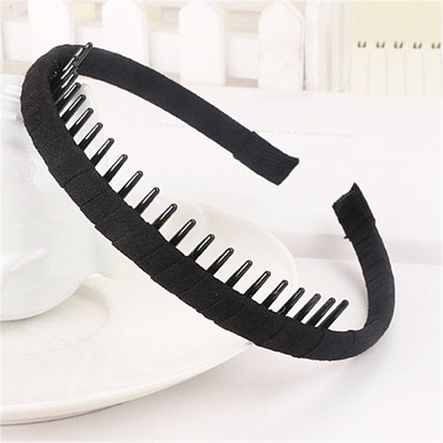 Hot High Quality Korean Solid Cloth Headband with Teeth Girls Kids Hair Band For Women Hair Accessories