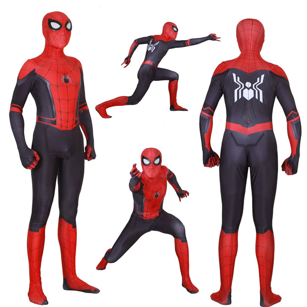 Adult Kids Spider Man Far From Home Peter Parker Cosplay Costume Zentai Spiderman Superhero Bodysuit Suit Jumpsuits