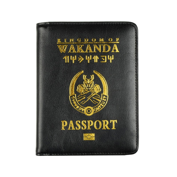 HEQUN Brand Wakanda Forever Cover Passport Women Cute Soft Pu Leather Passport Holder Wallet Pink Travel Bank Cards Tickets Case