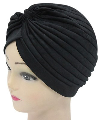 11.11 hats FOXMOTHER 2018 New Fashion Women 21 Soild Color Black White Red Beige Green Indian Turban Hats Caps For Ladies