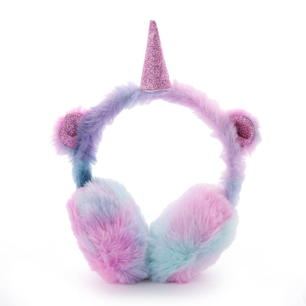 Child Imitation Rabbit Fur Ear Muffs Winter Outdoor Ear Warmer Kids Lovely Thicken Plush Unicorn Earmuffs Girls Christmas Gift Women's Earmuffs