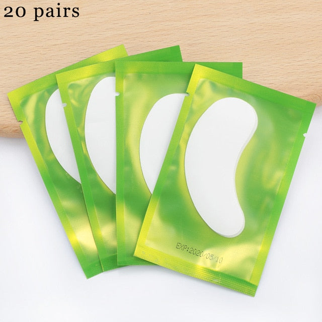 10/20 Pairs Grafting Eyelashes Under Eye Pads For Eyelash Extension Paper Eye Gel Patches Sticker Wraps Lash Patch Makeup Tool
