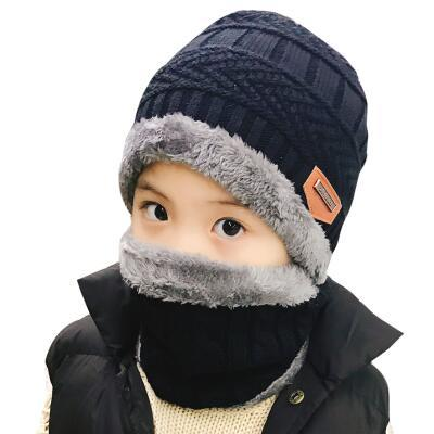 2019 Hot parent child 2pcs super warm Winter balaclava wool Beanies Knitted Hat and scarf for 3-12 years old girl boy hats