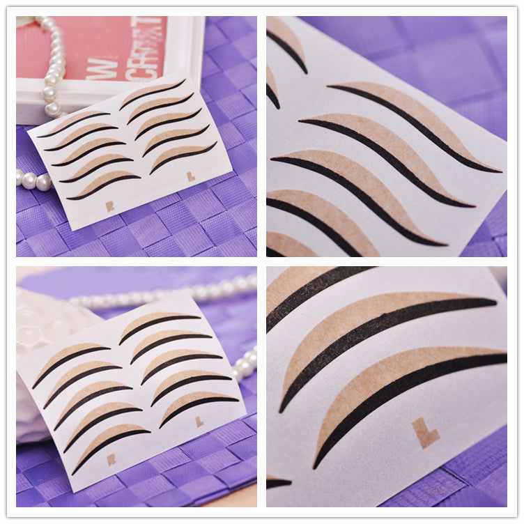 10 Pcs Cat Eyes Big Eyes Sticker Black Eyeliner And Double Eyelid Tape Smoky Makeup Eye Stickers Beauty Cosmetic Tools