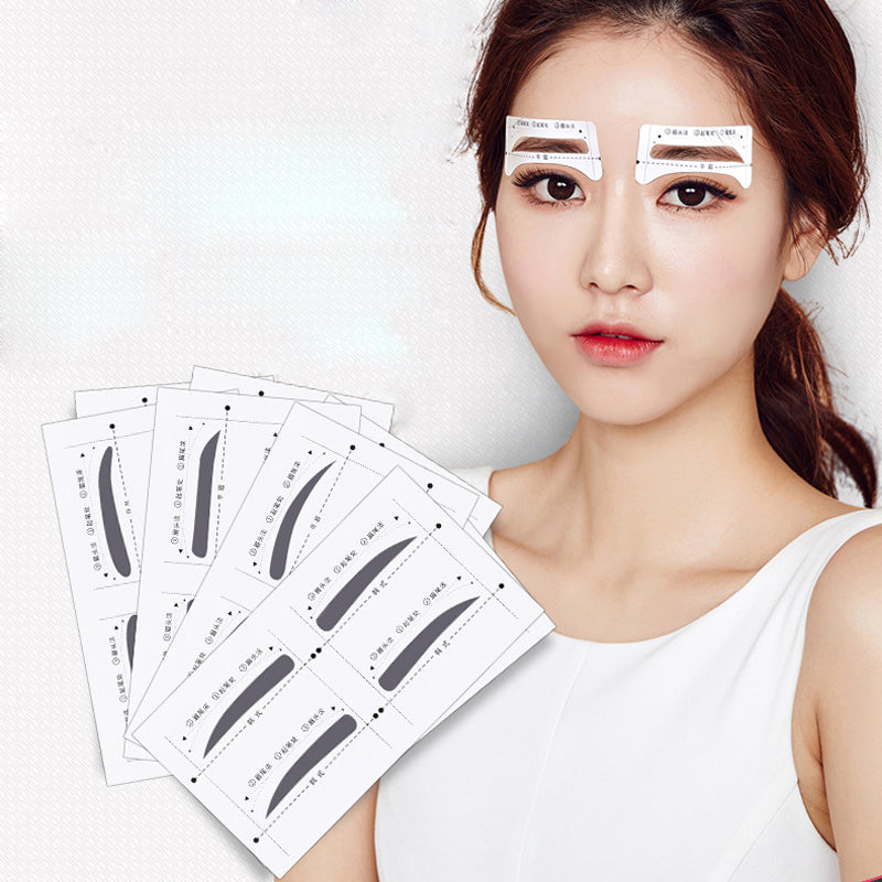 40pairs Professional Eyebrow Stencil For Eyes Make Up Eyebrow Shape Ruler Stencils Tools Women Makeup Eyebrow Sticker Template