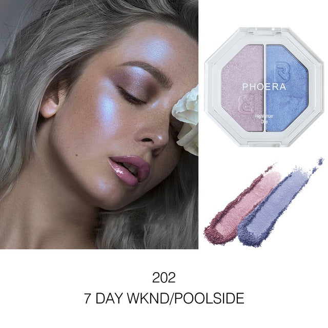 Lasting Highlight Gloss Powder Concealer 2 Colors Women Brighten Skin Eyeshadow Pigment Palette Makeup Tools Glow Kit