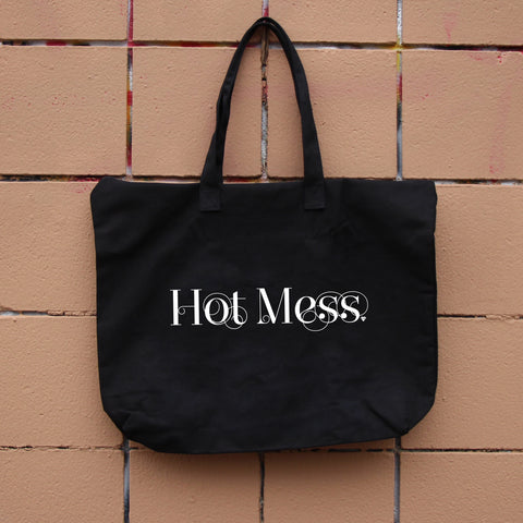 Hot Mess Zippered Tote