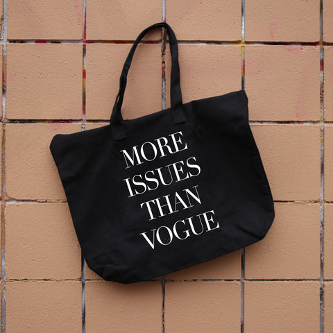 More Issues Than Vogue Zippered Tote