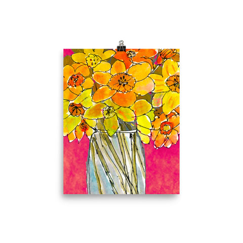 Daffodil Bouquet Watercolor Print