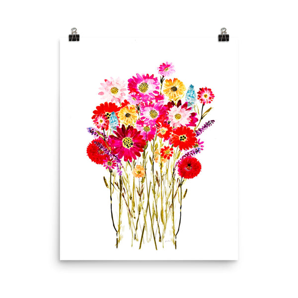 Mixed Floral Bouquet Poster