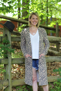 Just Be Free - Leopard Duster