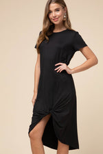 Perfect Day - Black Twist Dress