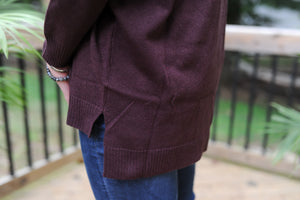 Simple Comfort - Plum Sweater
