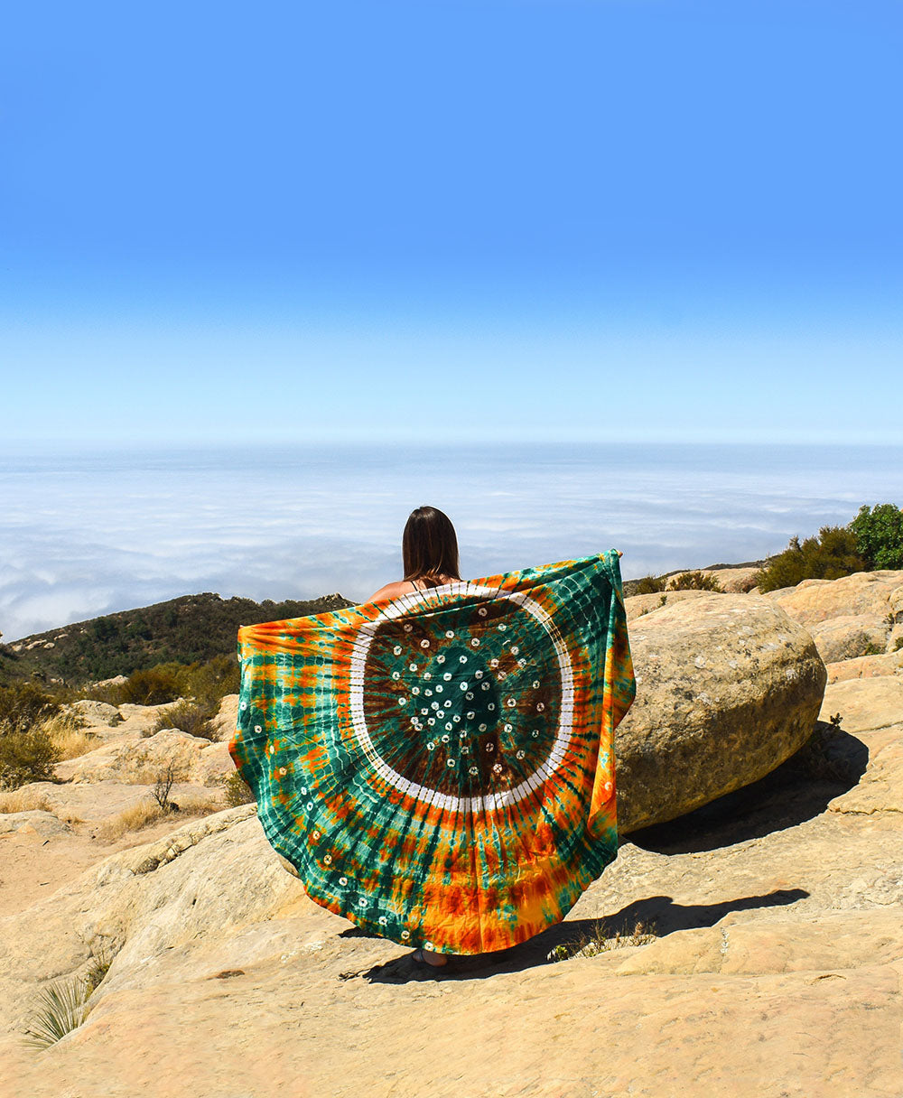 Channel your inner hippie and let your soul free with tie dye everything this summer. From clothes, to beach blankets, to tote bags, and home decor. Tie dye will be heating up the summer with it's classic summer of love vibe.