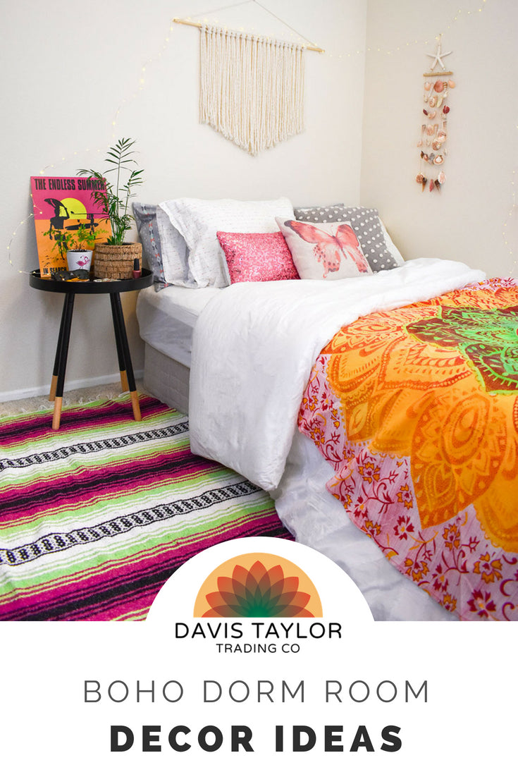 One of the best parts about moving into a new dorm room freshman year (or even your first apartment, post-dorm life for you sophomores and juniors) is decorating your space. Here are a few ideas to get you started or add to what you already have planned.  These ideas are also perfect for a teenage bedroom.
