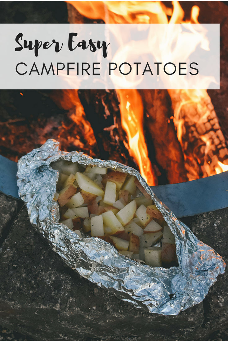 Our go to camping recipe - Super Easy Campfire Potatoes - so yum and goes with everything!