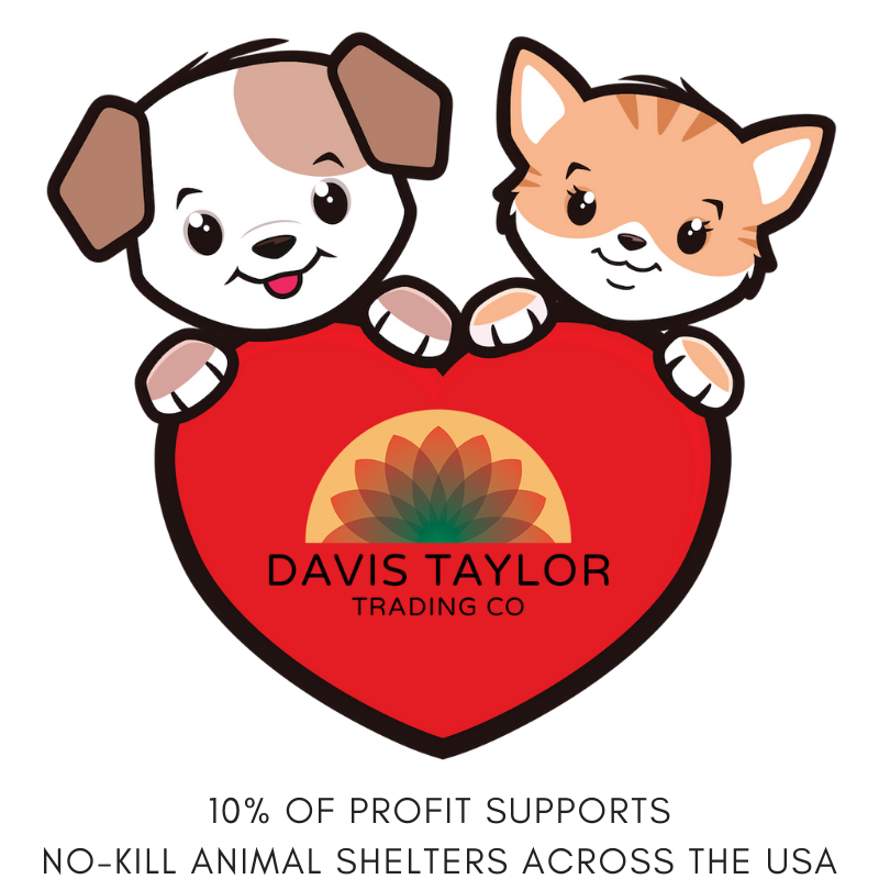 Davis Taylor Trading Co is proud to support rescue animals and no-kill animal shelters across the USA. Learn more about the shelters we have been able to donate to thanks to our customer support.