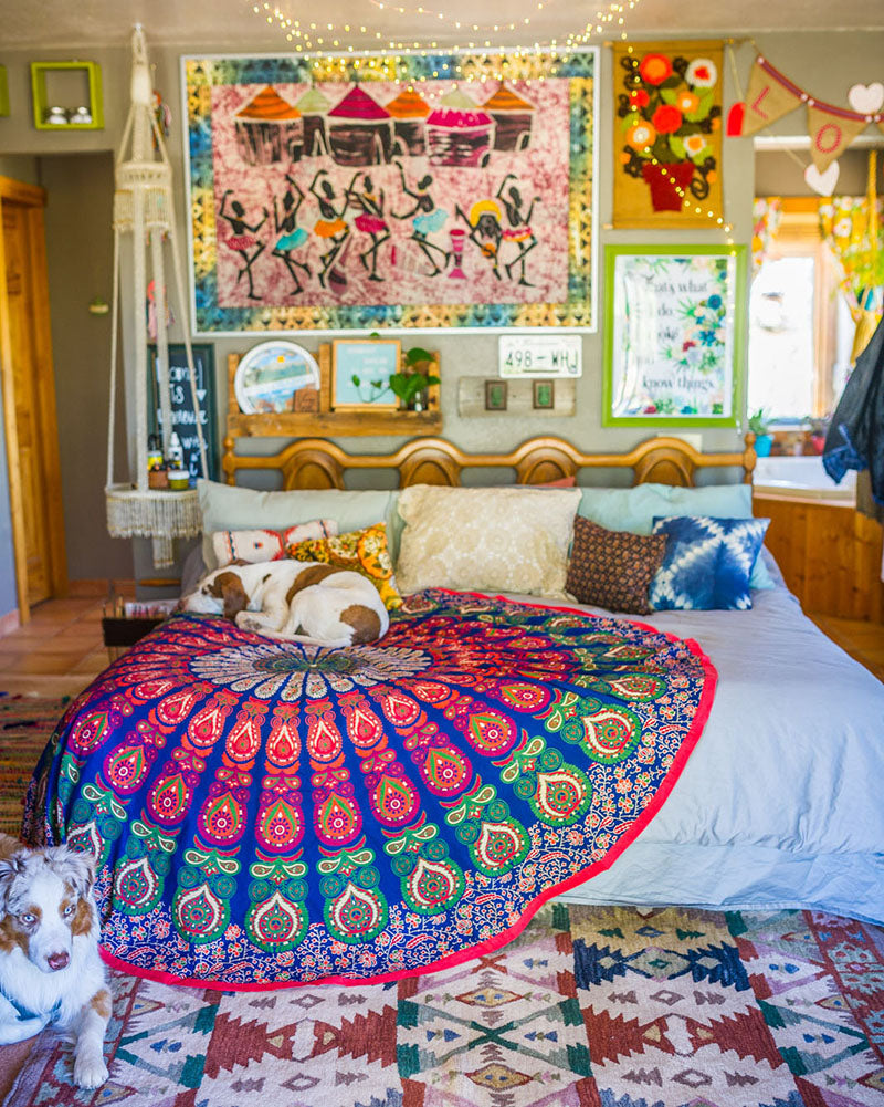 5 Essentials for the Hippie Soul - Global Accessories: Inspired by your sense of wanderlust, a mix of prints, patterns, art, and trinkets from around the world sourced from your frequent travels, favorite online boutique, or local thrift store are a must in any hippie home.