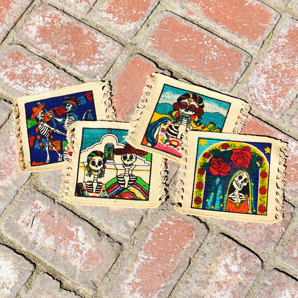 October FREE GIFT with purchase - Day of the Dead Coaster Set