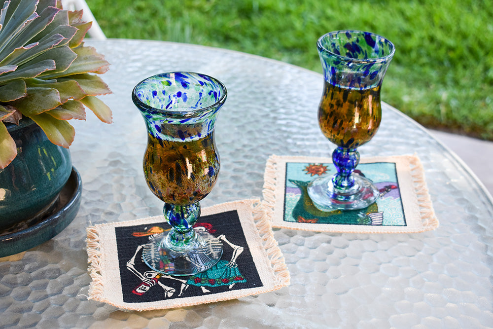 Day of the Dead Coasters make a beautiful addition to the patio for fall entertaining.