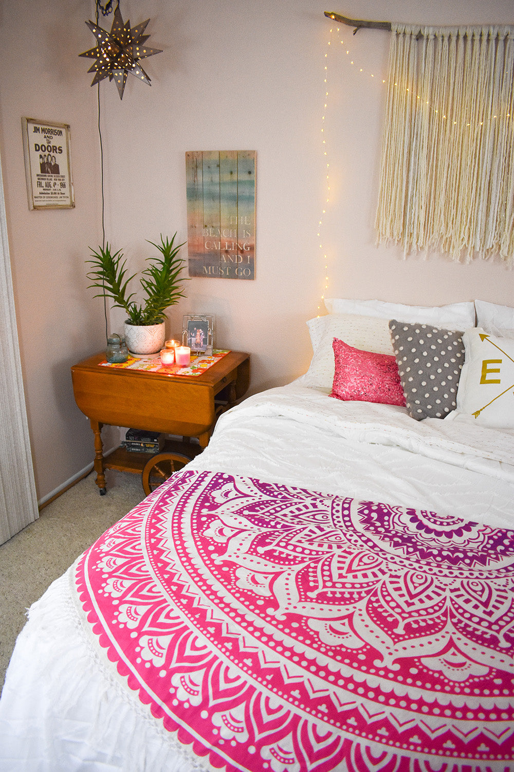 Create A Dreamy Paradise That Reflects Your Style With The Addition Of A  Round Hippie Tapestry