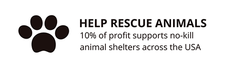 Support rescue animals with every purchase from Davis Taylor Trading Co.