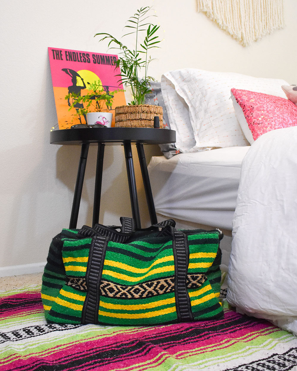 Dorm Life: There is going to be an occasional sleep over at your friends (or boyfriends) so don't forget a Wanderlust Weekender Bag for packing all the essentials. These multipurpose duffel bags also do double duty as gym bags, beach bags, storage bags, or what ever else you might need a bag for.