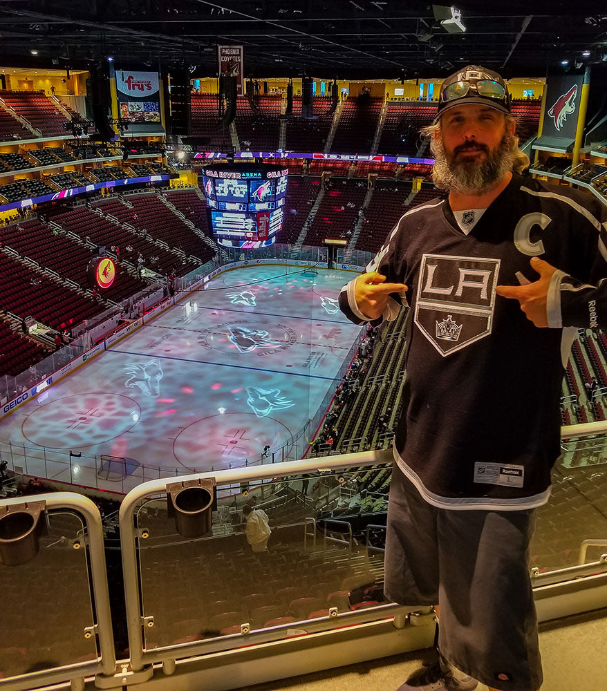 Taking in the LA Kings game during our spring road trip to Arizona via Davis Taylor Trading Co
