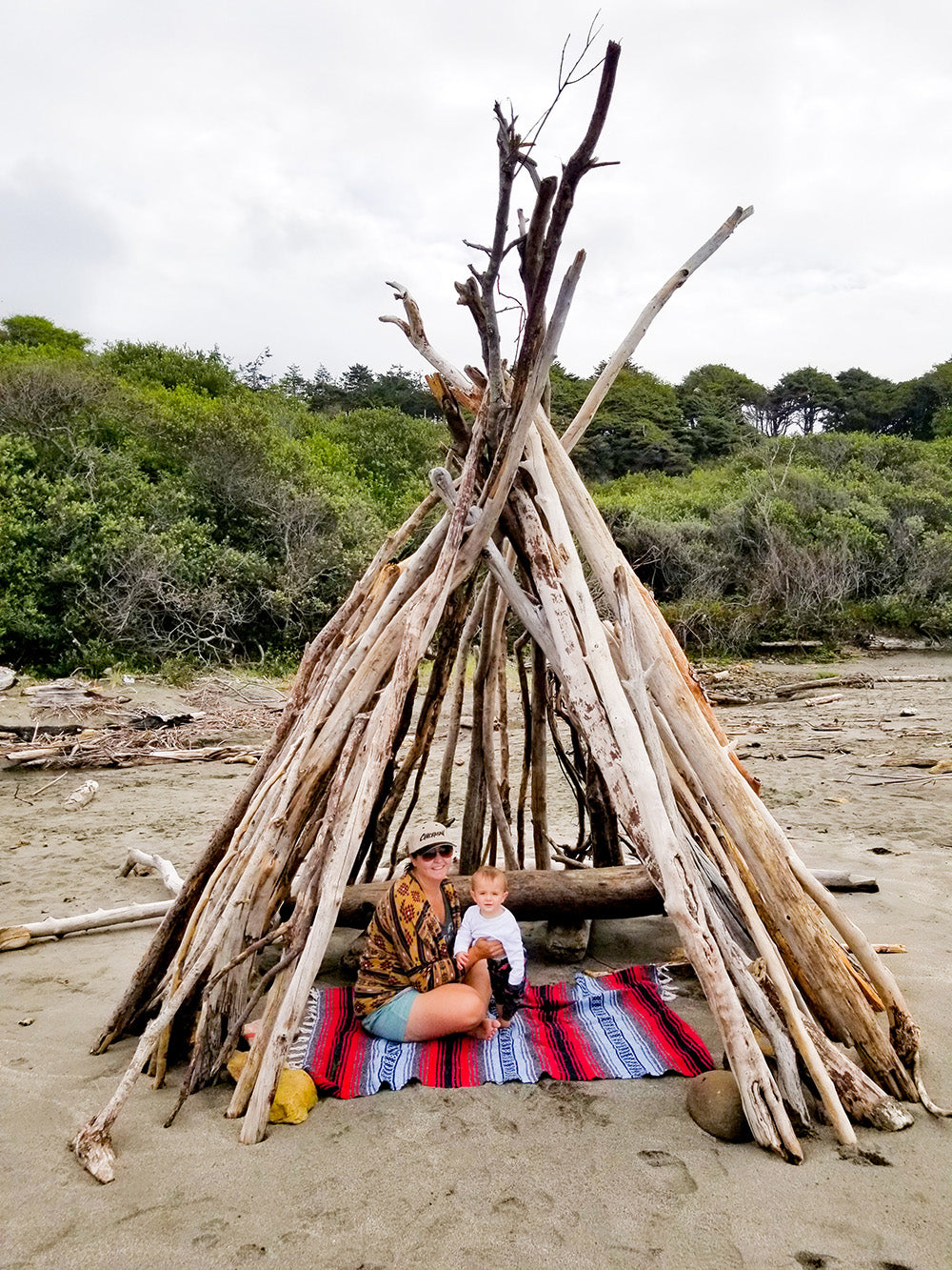 Boho Beach Tent Summer Family Vacation Northern California Coast with Davis Taylor Trading Co