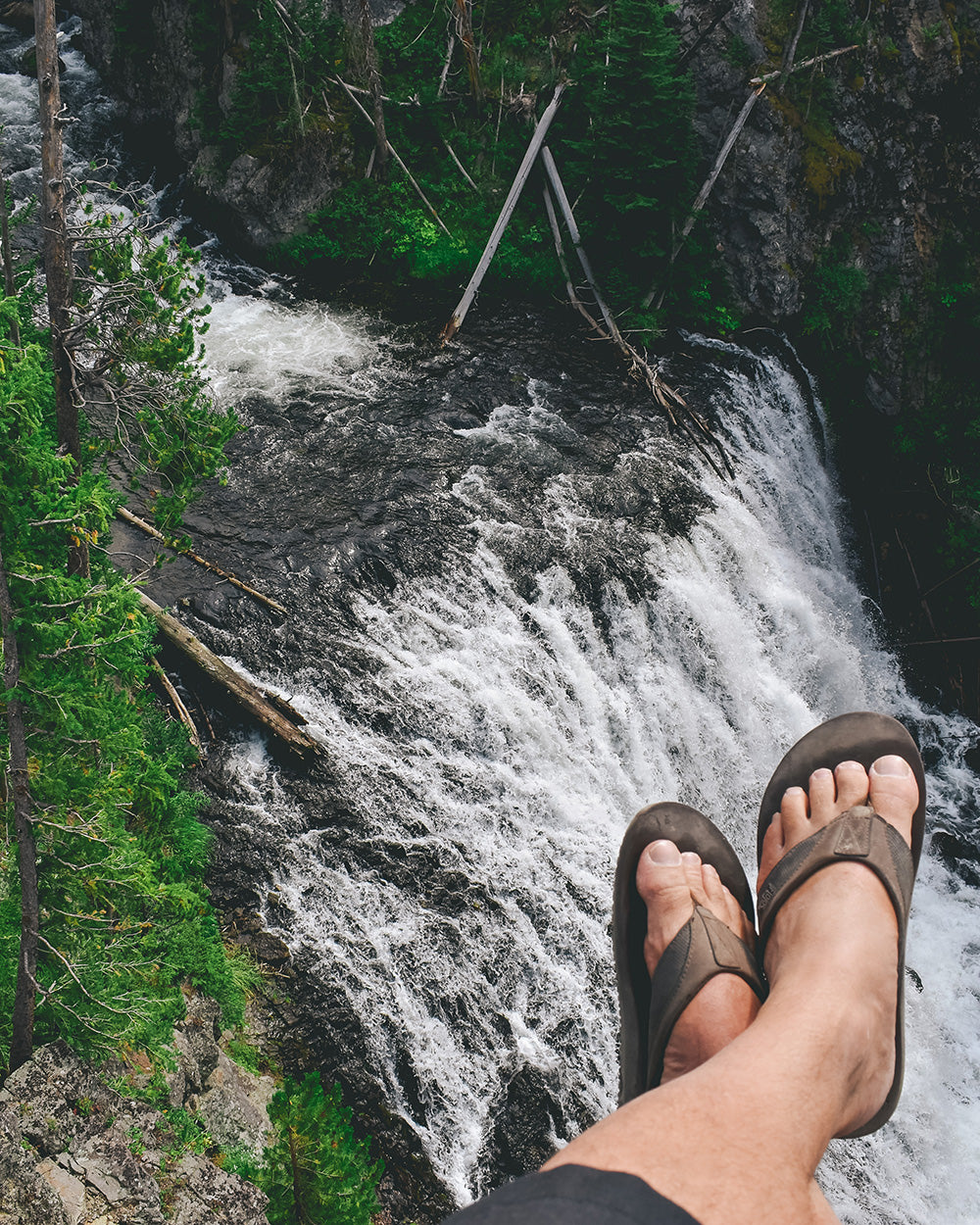 Always take a pair of flip flops camping. They come in handy for showers and when nature calls in the middle of the night. Or if you are like us you wear them anytime even while doing a little exploring!