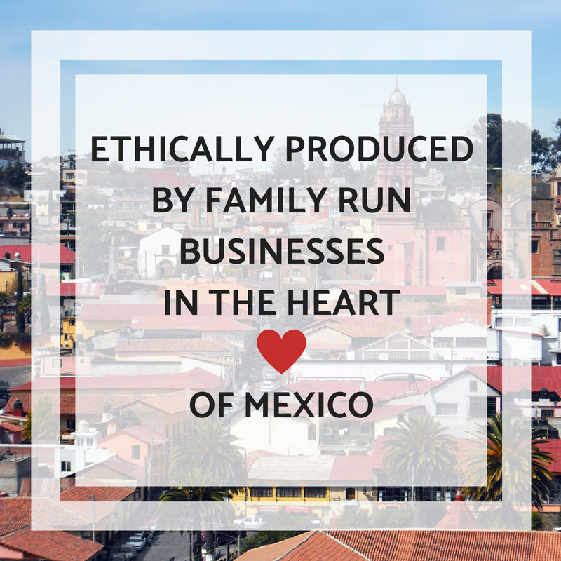 All of our Bohemian Fiesta Blankets are ethically produced by family run businesses in the heart of Mexico.