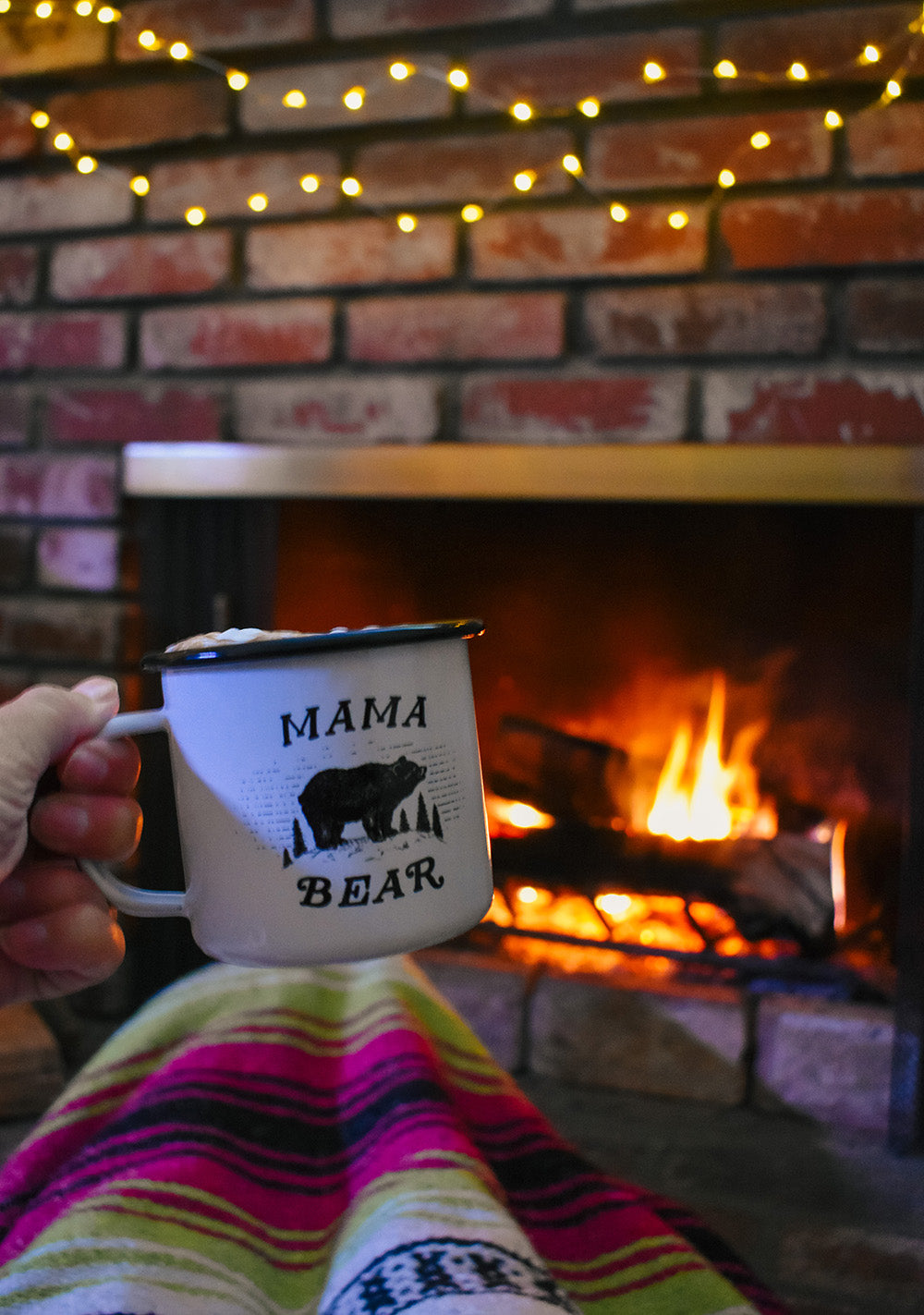 Get cozy by the fire with an Enamel Camp Mug filled with a hot cup of cocoa (with extra marshmallows of course!) while snuggled under a Bohemian Fiesta Blanket. Forget the cold, gloomy weather outside by gazing into the fire and pretending to be by the firepit at your favorite campground, relaxing after a fun filled day of hiking the mountain trails with your best friend.