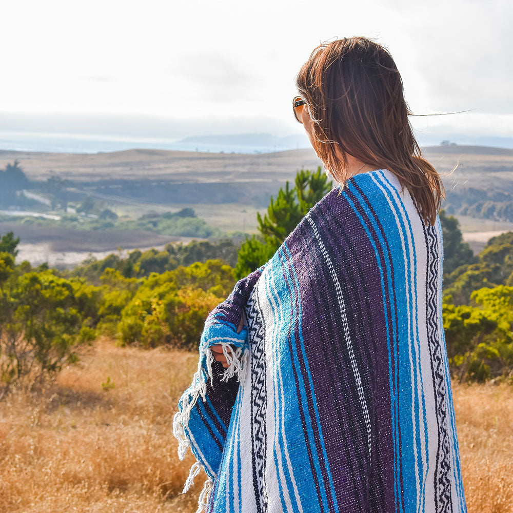Turquoise Dream | Mexican Blanket