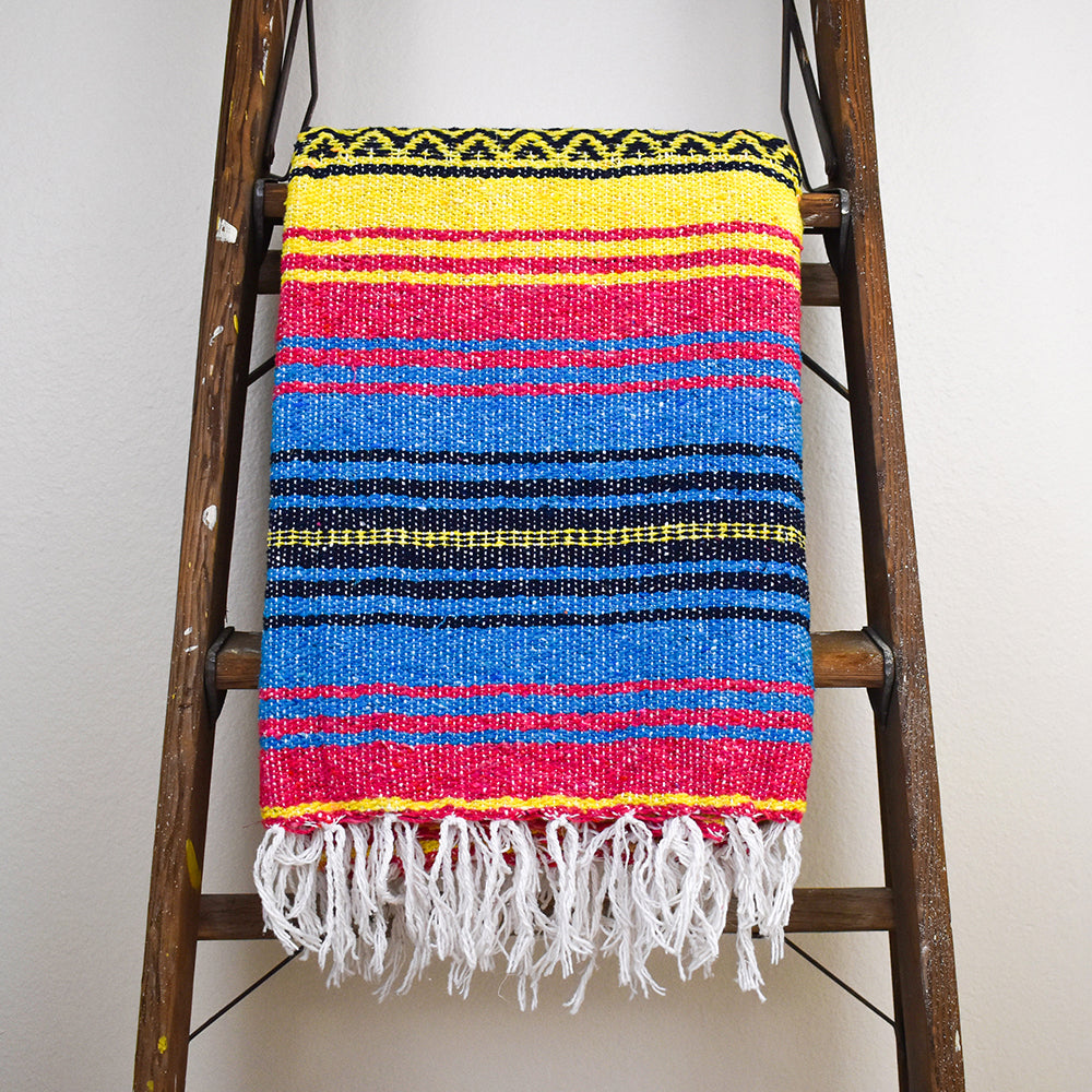 Sunshine Day Dream - Bohemian Fiesta Blanket brings a bright pop of color where ever you take it.