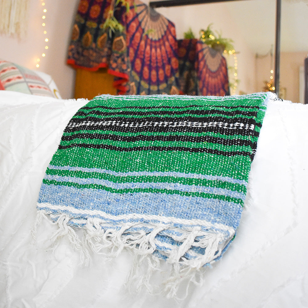 Make your friends green with envy with your laid back boho home style - Mountain High Bohemian Fiesta Blanket.