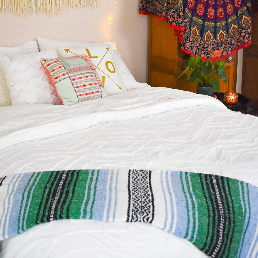 A must have for the boho home - Mountain High Bohemian Fiesta Blanket.