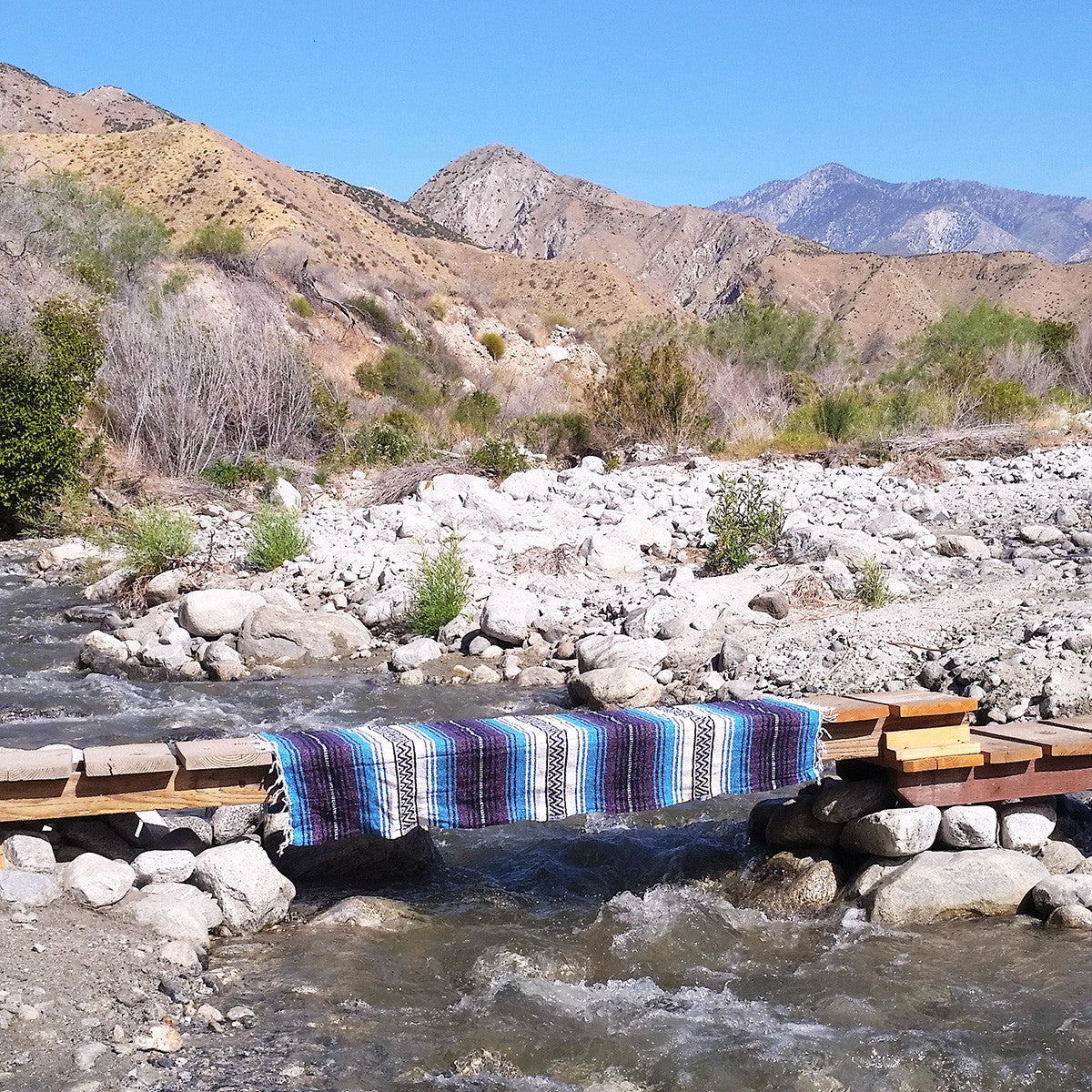 Take your Turquoise Dream Bohemian Fiesta Blanket hiking and you'll always have a spot to stop and enjoy the view.