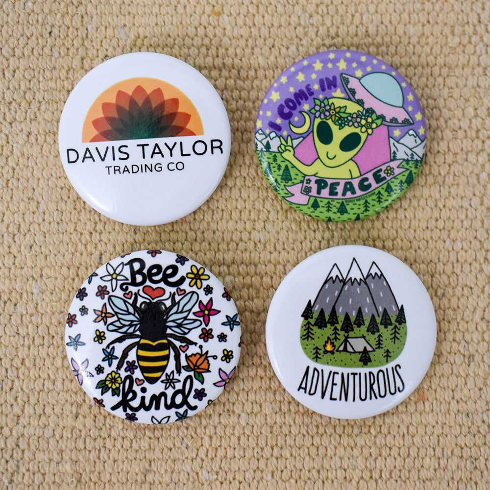 4 Pack of Adventure Buttons