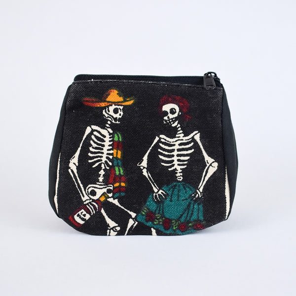 Day of the Dead Coin Purse | Wine