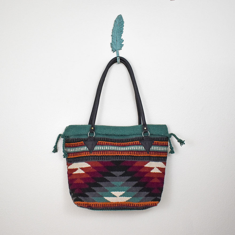 Handwoven Wool Malibu Purse | Diamond Sunset