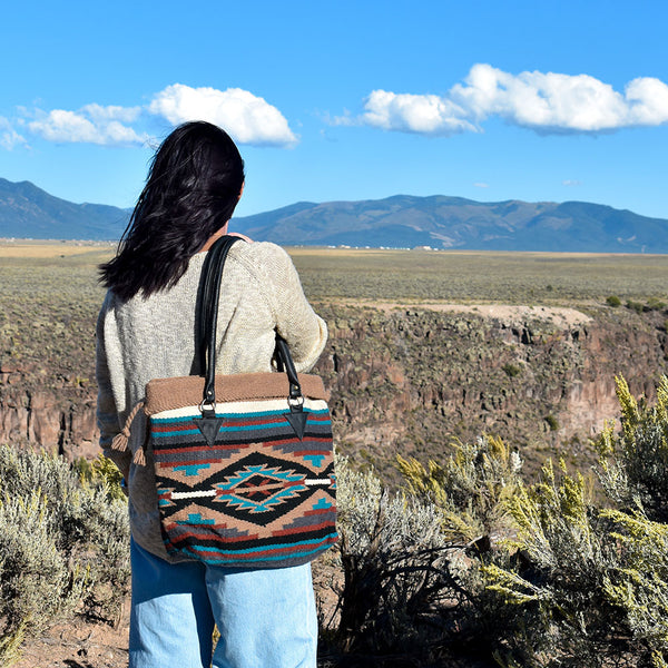 Handwoven Wool Malibu Purse | Black Vortex