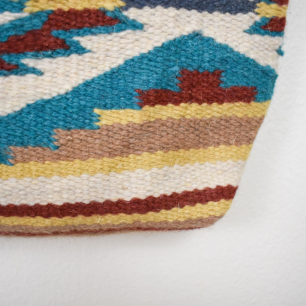 Handwoven Wool Malibu Purse | Teal Vortex