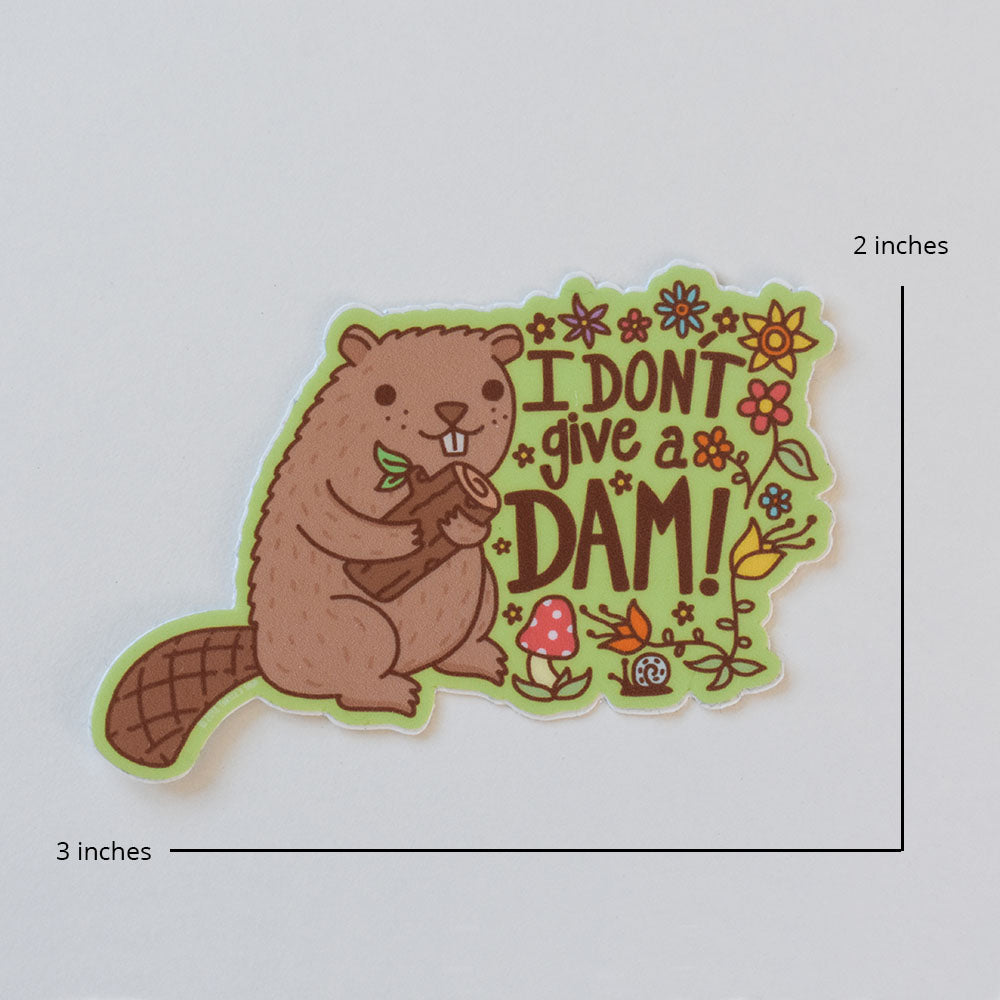 I Don't Give a Dam Beaver Sticker