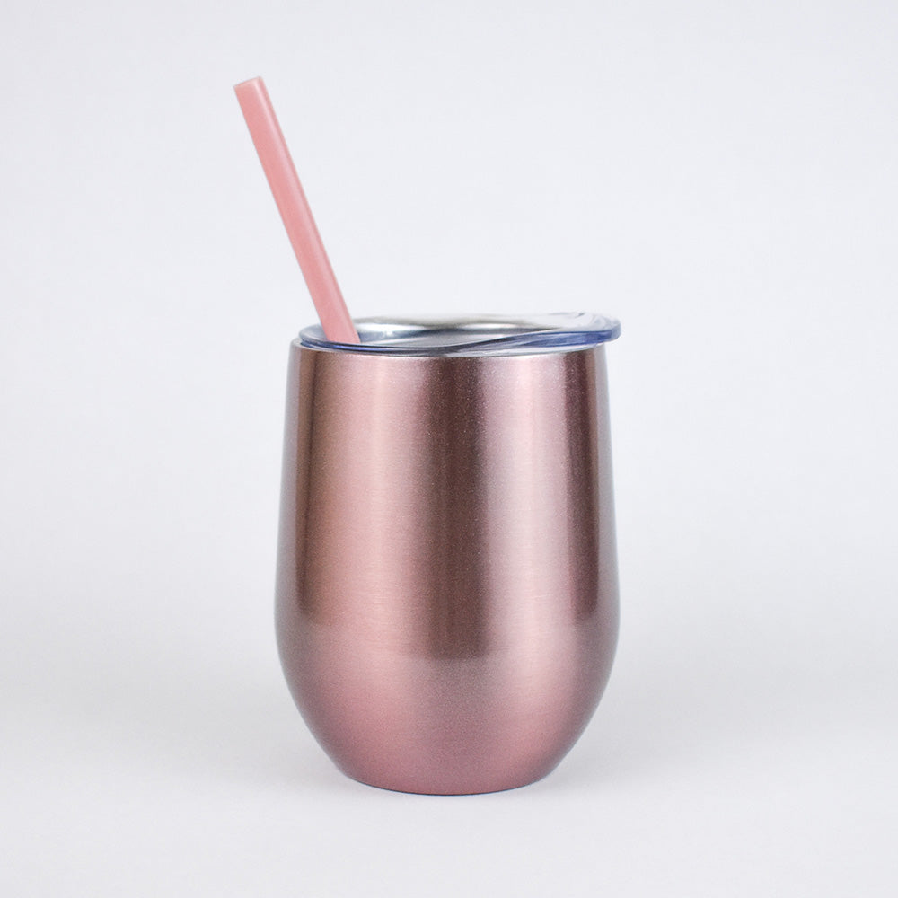 Rose Gold Shimmer | Wine Tumbler
