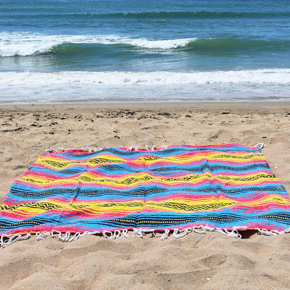 The perfect beach blanket, the Sunshine Day Dream Bohemian Fiesta Blanket shines all day long.
