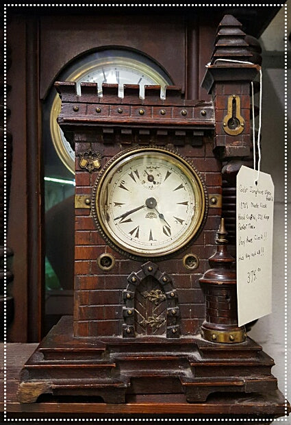 Antique Hand Crafted Gebr Junghans 1870's Mantle Clock