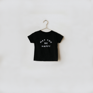 Load image into Gallery viewer, May You Be Happy T-Shirt - Black