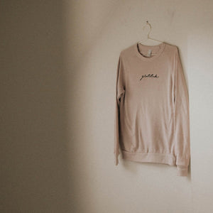 Load image into Gallery viewer, Gratitude Embroidered Sweater - Blush Pink