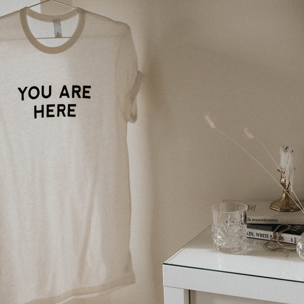 Load image into Gallery viewer, You Are Here T-Shirt - White